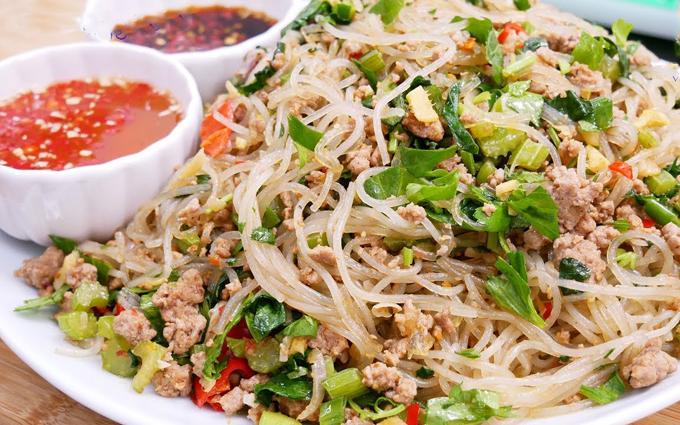 Cach Lam Mon Miến Xao Thập Cẩm Long Ga Hải Sản Thơm Ngon